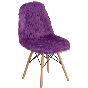 Wholesale Shaggy Dog Purple Accent Chair