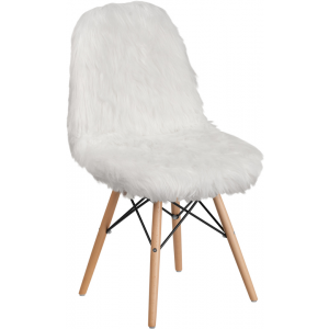 Wholesale Shaggy Dog White Accent Chair