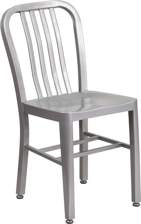 Wholesale Silver Metal Indoor-Outdoor Chair