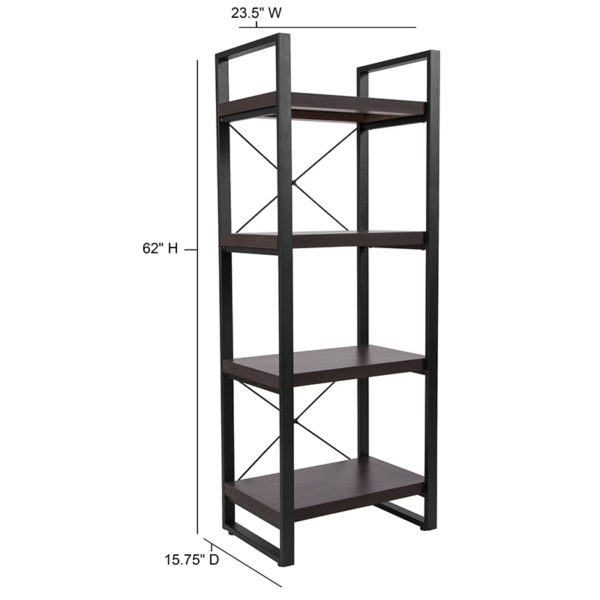 Contemporary Style Charcoal Bookshelf