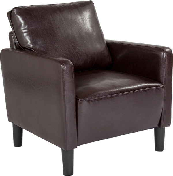Wholesale Washington Park Upholstered Chair in Brown Leather