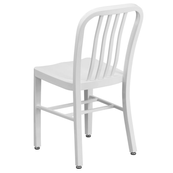 Industrial Style Modern Chair White Indoor-Outdoor Chair