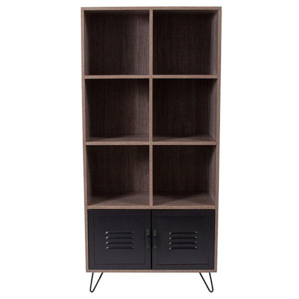 Contemporary Style Rustic Storage Shelf