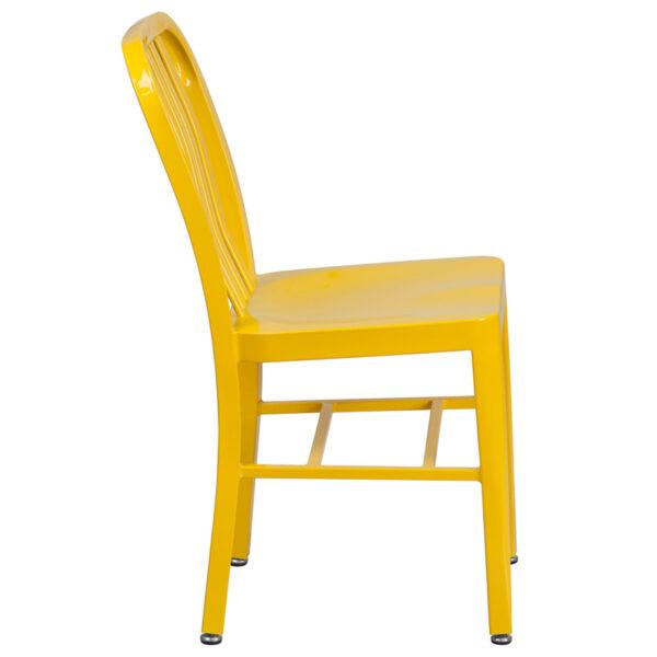 Lowest Price Yellow Metal Indoor-Outdoor Chair