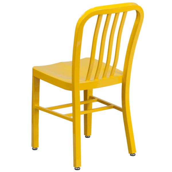 Industrial Style Modern Chair Yellow Indoor-Outdoor Chair