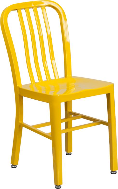 Wholesale Yellow Metal Indoor-Outdoor Chair