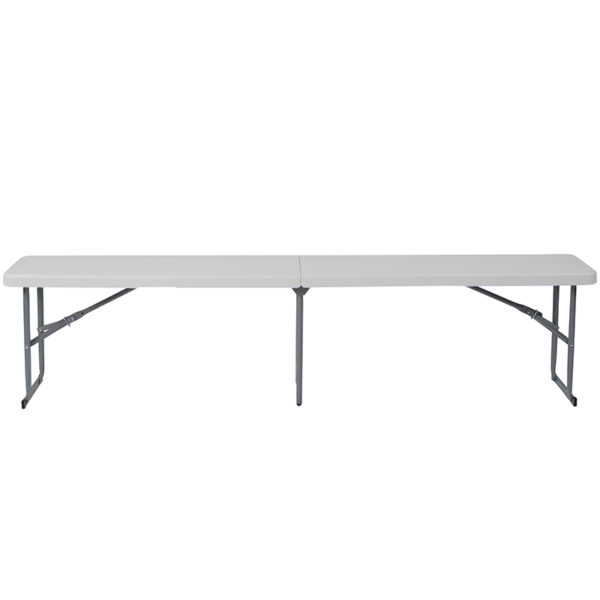 Lowest Price 10.25''W x 71''L Bi-Fold Granite White Plastic Bench with Carrying Handle