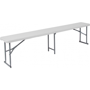 Wholesale 10.25''W x 71''L Bi-Fold Granite White Plastic Bench with Carrying Handle