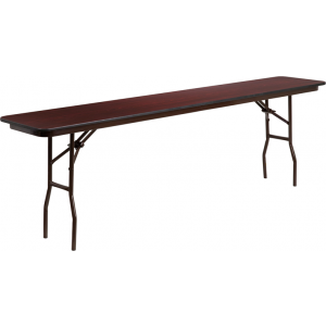 Wholesale 18'' x 96'' Rectangular High Pressure Mahogany Laminate Folding Training Table