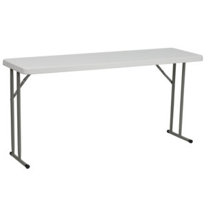 Wholesale 18''W x 60''L Granite White Plastic Folding Training Table