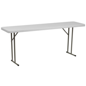 Wholesale 18''W x 72''L Granite White Plastic Folding Training Table