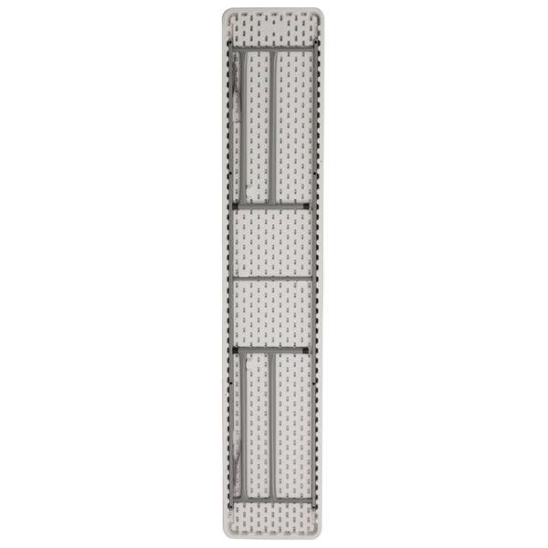 Lowest Price 18''W x 96''L Granite White Plastic Folding Training Table