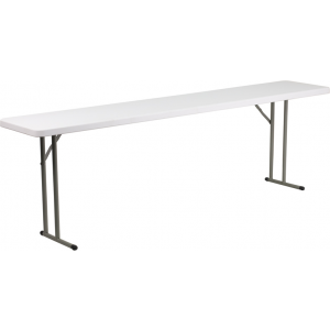 Wholesale 18''W x 96''L Granite White Plastic Folding Training Table