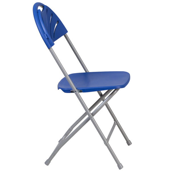 Set of 2 Blue Plastic Folding Chairs Blue Plastic Folding Chair