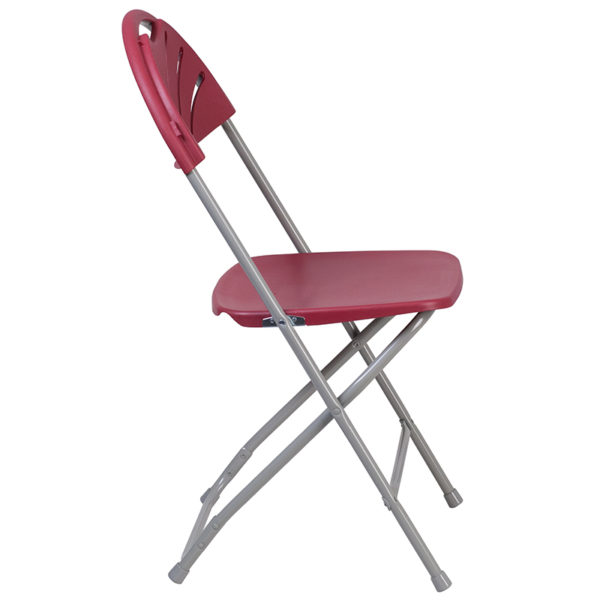 Set of 2 Burgundy Plastic Folding Chairs Burgundy Plastic Folding Chair