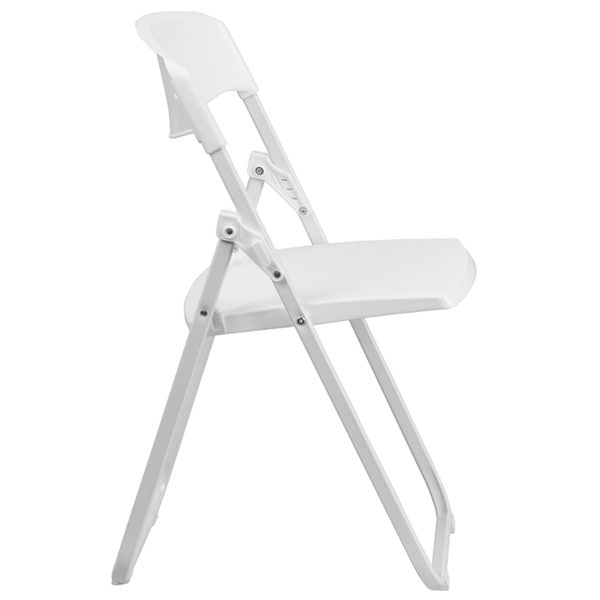 Set of 2 Plastic Folding Chairs White Plastic Folding Chair