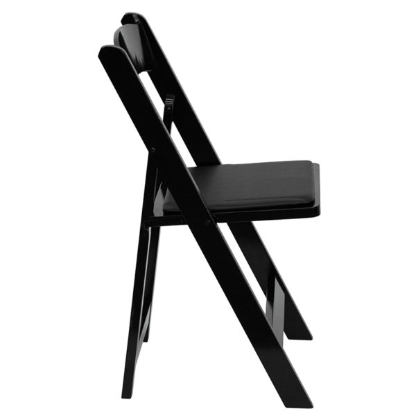 Set of 2 Wood Folding Chairs Black Wood Folding Chair