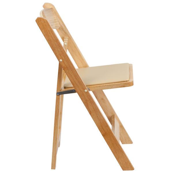 Set of 2 Wood Folding Chairs Natural Wood Folding Chair
