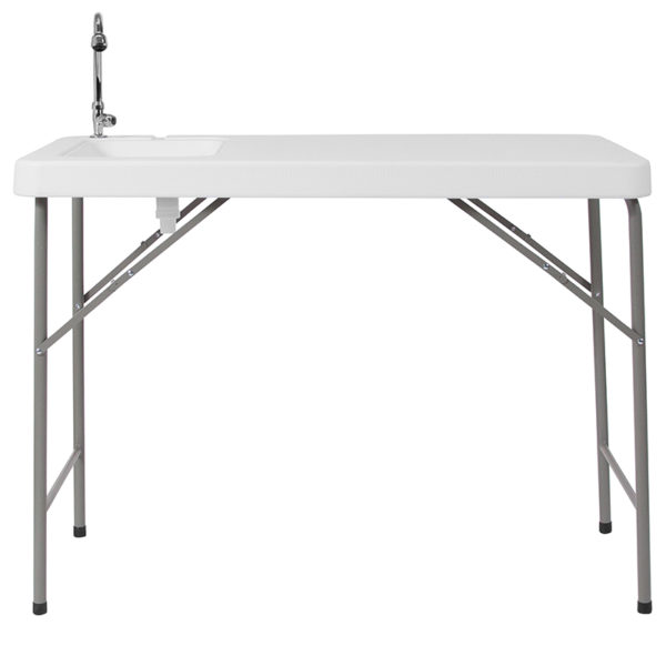 Multipurpose Folding Table 23x45 White Fold Table/Sink
