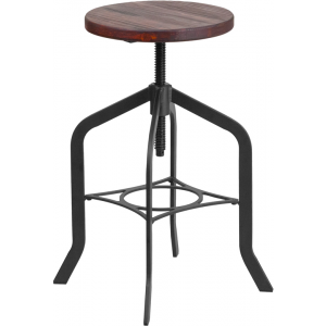 Wholesale 24'' Counter Height Stool with Swivel Lift Wood Seat
