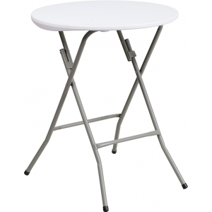 Wholesale 24'' Round Granite White Plastic Folding Table