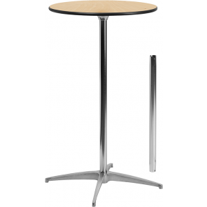 Wholesale 24'' Round Wood Cocktail Table with 30'' and 42'' Columns