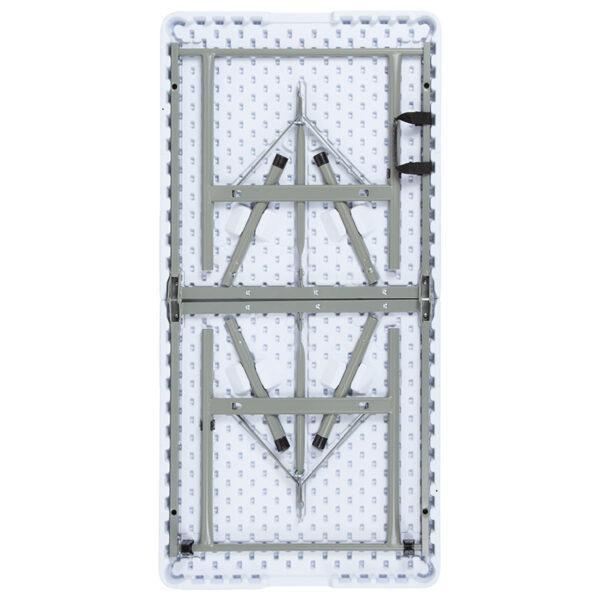 "Lowest Price 24""W x 48""L Bi-Fold Granite White Plastic Folding Table"