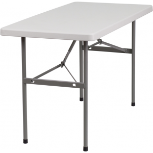 Wholesale 24''W x 48''L Granite White Plastic Folding Table