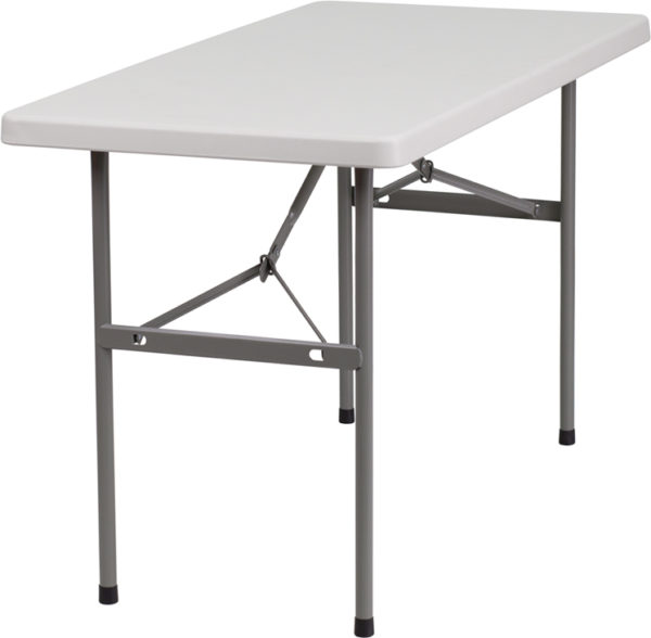 Wholesale 24''W x 48''L Granite White Plastic Folding Table