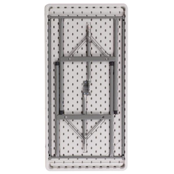 Lowest Price 24''W x 48''L Granite White Plastic Folding Table