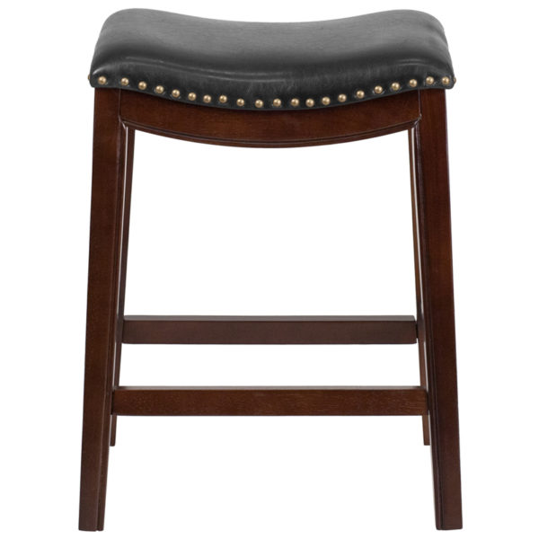 """Transitional Style Stool 26"""" No Back Cappuccino Stool"""