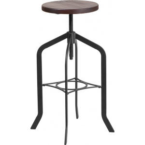 Wholesale 30'' Barstool with Swivel Lift Wood Seat
