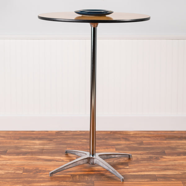Lowest Price 30'' Round Wood Cocktail Table with 30'' and 42'' Columns