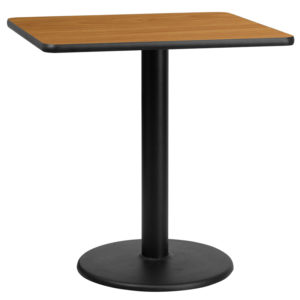 Wholesale 30'' Square Natural Laminate Table Top with 18'' Round Table Height Base