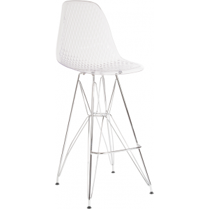 "Wholesale 30.25"" High Clear Acrylic Barstool with Chrome Legs"