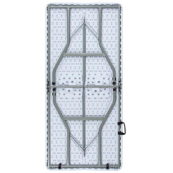 Lowest Price 30''W x 60''L Bi-Fold Granite White Plastic Folding Table