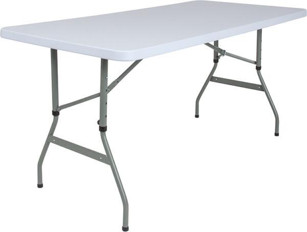Wholesale 30''W x 60''L Height Adjustable Granite White Plastic Folding Table
