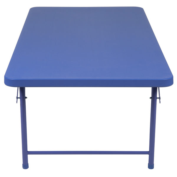 Multipurpose Kids Folding Table Kids 30x60 Blue Folding Table