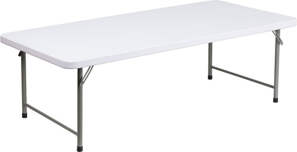Wholesale 30''W x 60''L x 19''H Kid's Granite White Plastic Folding Table