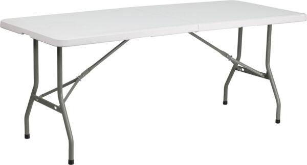 Wholesale 30''W x 72''L Bi-Fold Granite White Plastic Folding Table