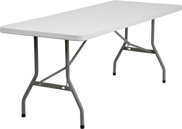 Wholesale 30''W x 72''L Granite White Plastic Folding Table