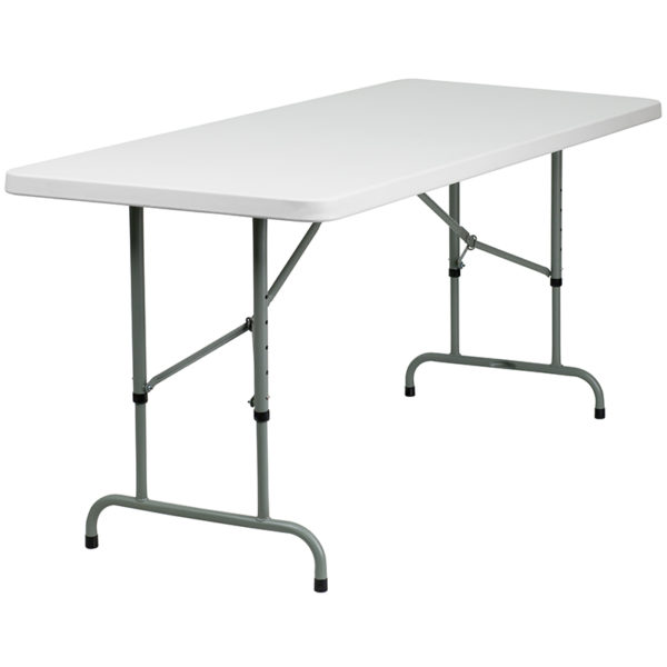 Ready To Use Commercial Table 30x72 White Plastic Fold Table