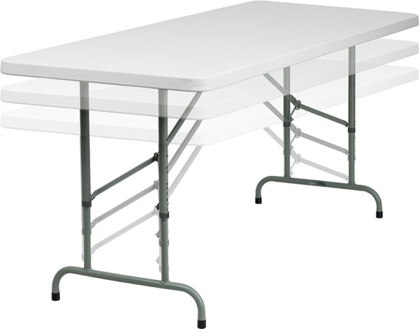 Wholesale 30''W x 72''L Height Adjustable Granite White Plastic Folding Table