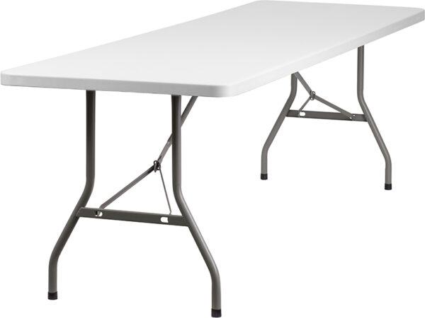Wholesale 30''W x 96''L Granite White Plastic Folding Table