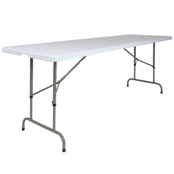 Lowest Price 30''W x 96''L Height Adjustable Granite White Plastic Folding Table