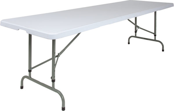Wholesale 30''W x 96''L Height Adjustable Granite White Plastic Folding Table