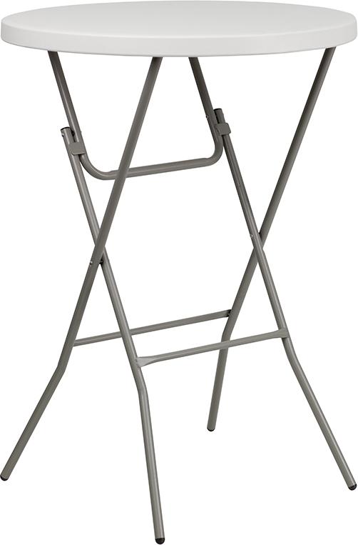 Wholesale 32'' Round Granite White Plastic Bar Height Folding Table