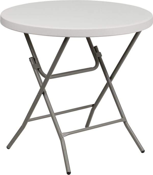 Wholesale 32'' Round Granite White Plastic Folding Table