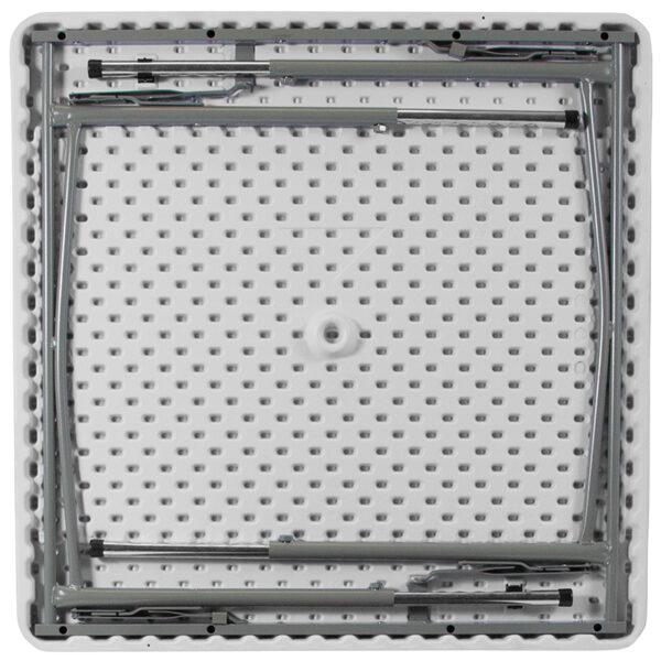 Multipurpose Folding Table 34SQ White Plastic Fold Table