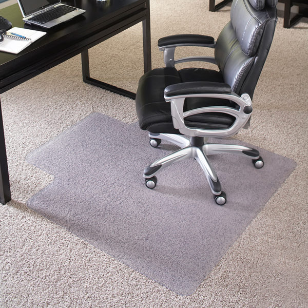 Lowest Price 36'' x 48'' Big & Tall 400 lb. Capacity Carpet Chair Mat with Lip